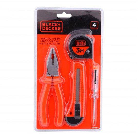 Kit de ferramentas 4 peças BD80291-840 Black+Decker