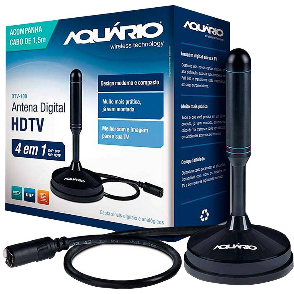 Antena Digital HDTV Aquario DTV-100
