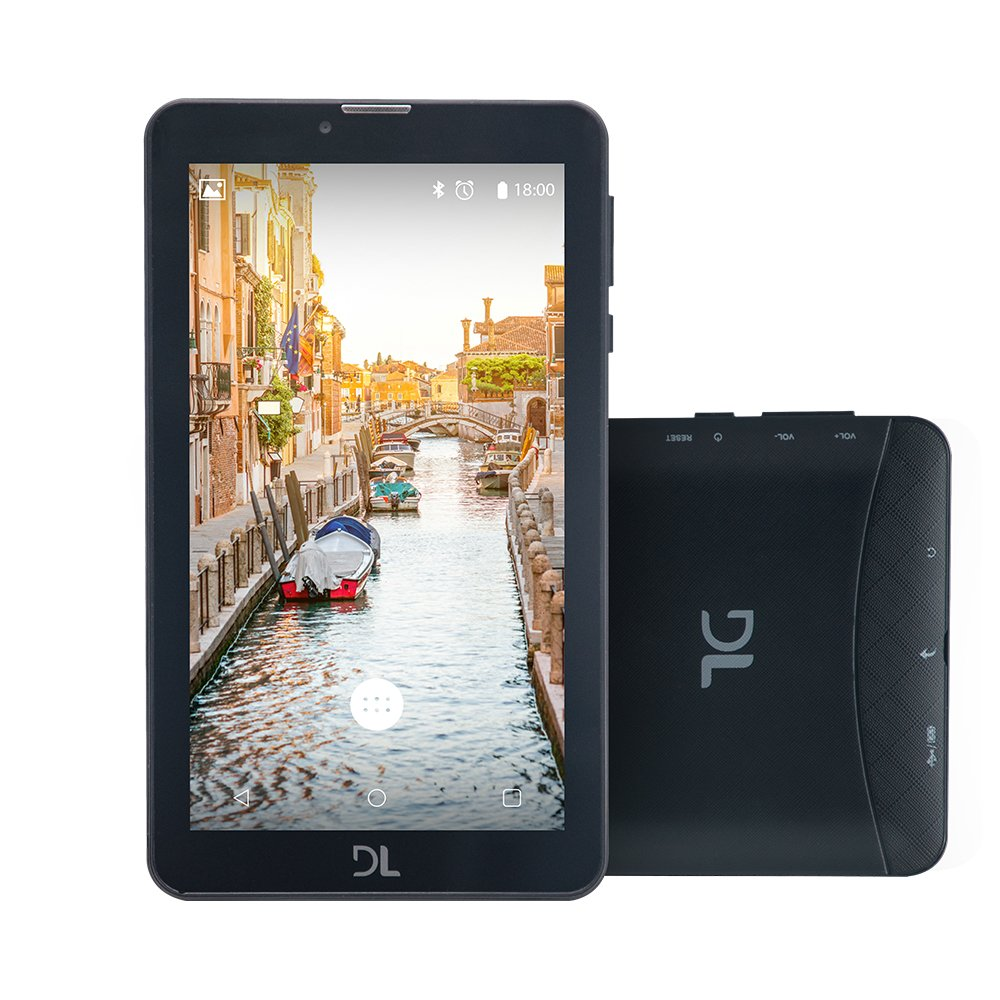 Tablet DL Mobi Tela 7'' 3G Preto TX384 Dual Chip