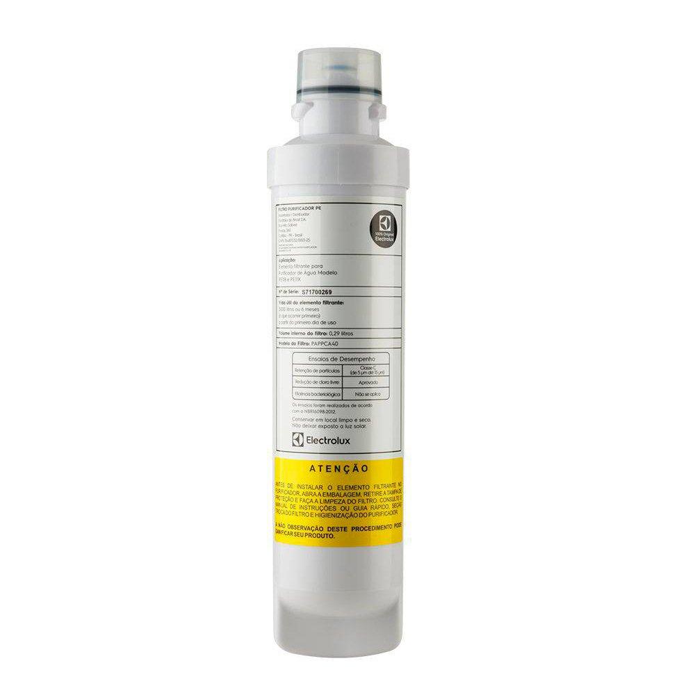 Filtro Refil para Purificador de Água Electrolux PE11B PE11X