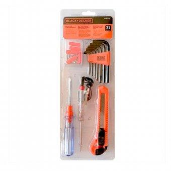 Kit de ferramentas 31 peças BD80338-840 Black+Decker