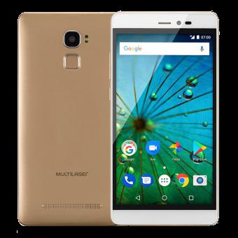 Smartphone MS60F Plus P9058 Multilaser Branco e Dourado