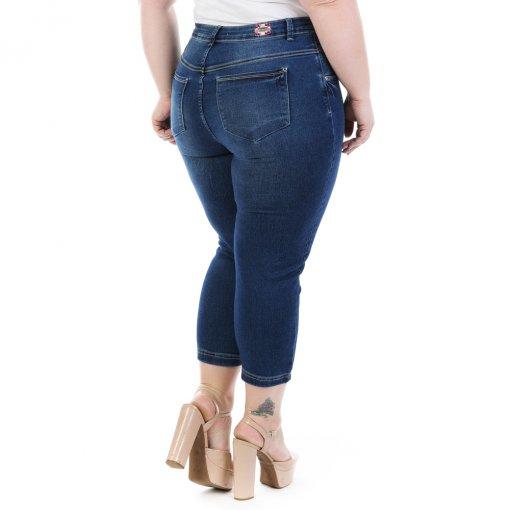 b06a0b17b Calça Feminina Jeans Capri Dumont Plus Size - Imagem 4