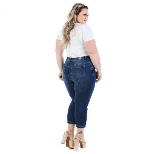 aecea0f50 Calça Feminina Jeans Capri Dumont Plus Size - Imagem 2