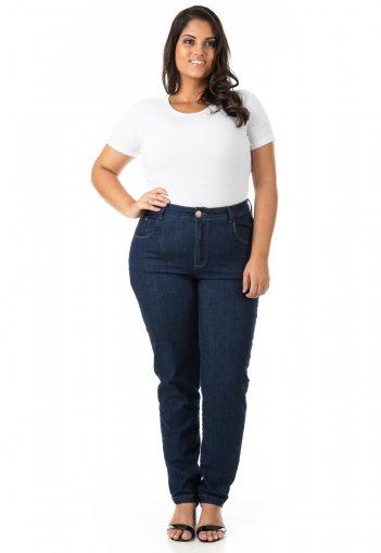 Calça Feminina Jeans Tradicional Básica Plus Size