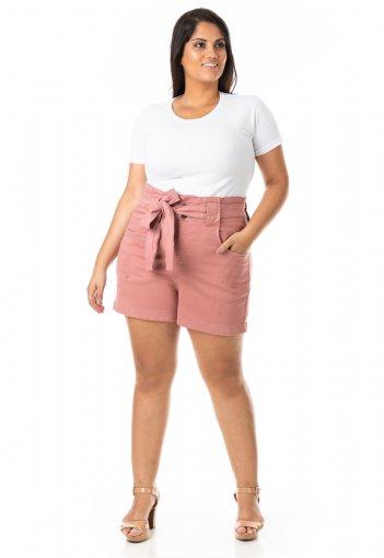 Shorts Feminino Clochard com Cinto Plus Size