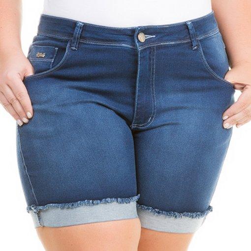 2772e8d34 Shorts Jeans Feminino Cintura Alta Plus Size