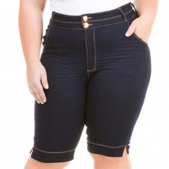 Imagem - Bermuda Feminina Jeans Tradicional com Elastano Plus Size