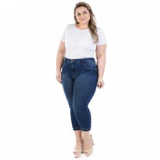 Imagem - Calça Feminina Jeans Capri Dumont Plus Size