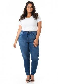 Calça Feminina Jeans Jogger Plus Size