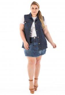 Colete Jeans Feminino Oversized Plus Size