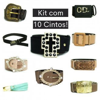 KIT 10 Cintos Feminino Plus Size