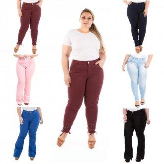KIT 3 Calças Jeans Feminina