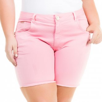 Kit 3 Shorts Jeans Feminino Plus Size