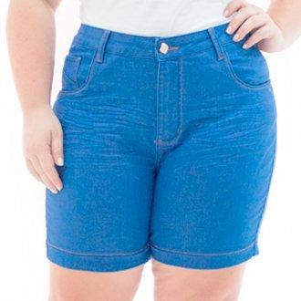 Kit 5 Shorts Jeans FemininoPlus Size