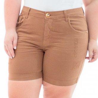 Shorts Feminino Jeans Munich com Lycra Plus Size