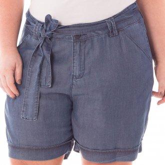 Shorts Feminino Soltinho de Alfaiataria Plus Size
