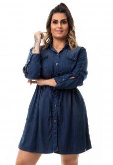 Vestido Chemisie Jeans Plus Size