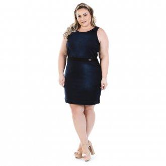 Vestido Jeans Regata Luck com Elastano Plus Size