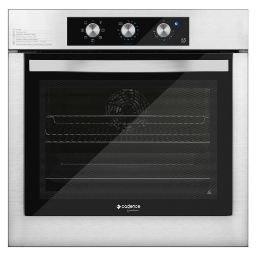 Forno Elétrico Embutir Cadence Gourmet 45L Inox 220V FOR455