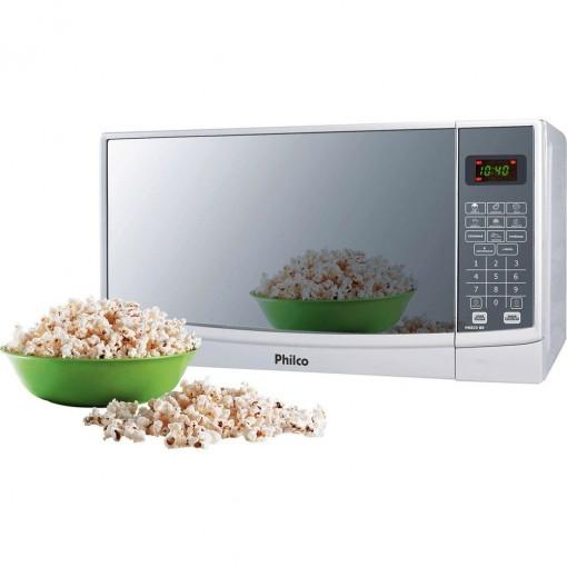 Micro-Ondas 22 Litros Branco Espelhado Philco 220V PME22
