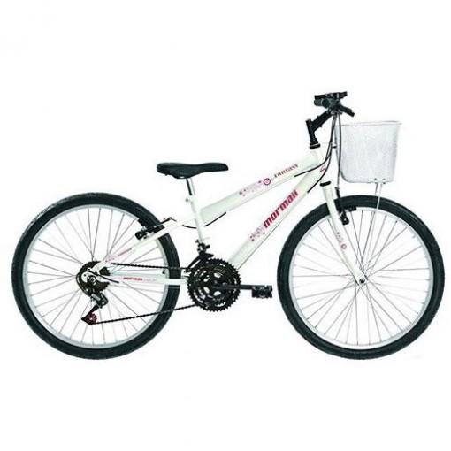 Bicicleta Fantasy 18V Aro 24 Branco Mormaii