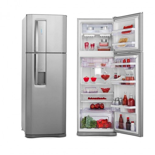 Refrigerador Electrolux Duplex Frost Free Inox 380L Inox 127V DW42X