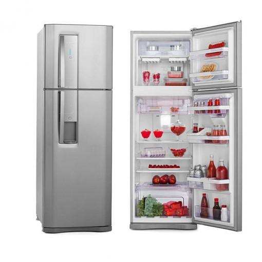 Refrigerador Electrolux Duplex Frost Free Inox 380L Inox 220V DW42X