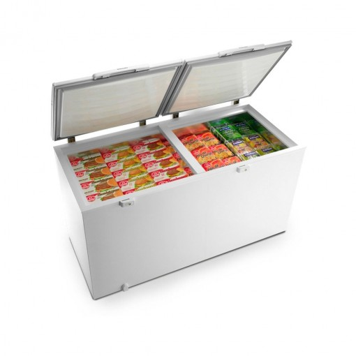 Freezer Horizontal 2 Portas 385L Branco Electrolux 127V