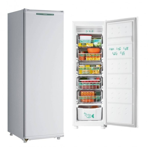 Freezer Consul Vertical Branco Degelo Manual 142L 110V