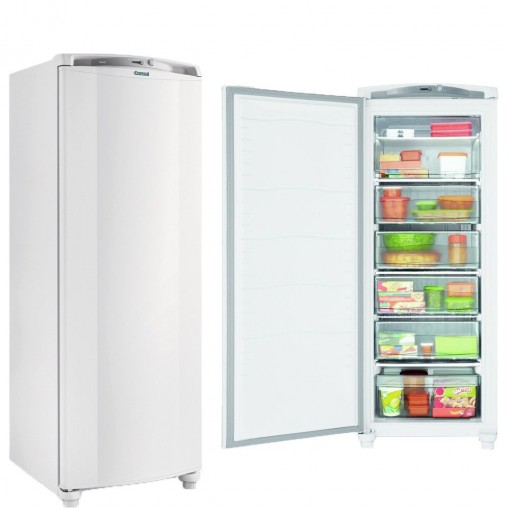 Freezer Consul 1Pt Vertical 231L Cycle Defrost Branco 220V