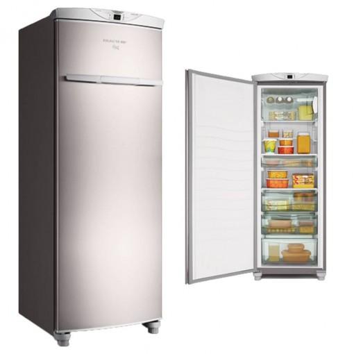 Freezer Brastemp Flex Vertical 228L Inox Frost Free 127V