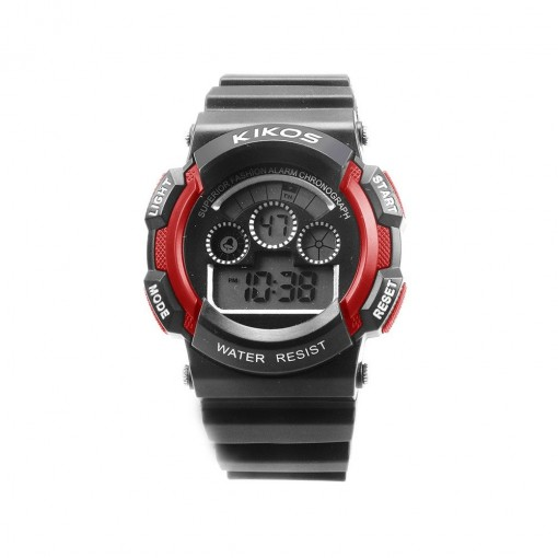 Relógio Digital Kikos Unissex Vermelho RK01 (RK01VERM)