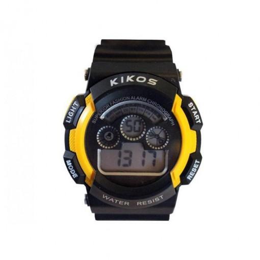 Relógio Digital Kikos Unissex Amarelo RK01 Resistente à Água