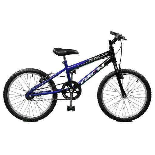 Bicicleta Ciclone sem Marchas Aro 20 Masculina Azul com Preto Master Bike