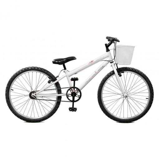 Bicicleta Aro 24 Serena Branco sem Marchas Master Bike