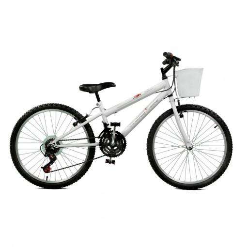 Bicicleta Aro 24 Serena Plus 21 Marchas Branco Master Bike