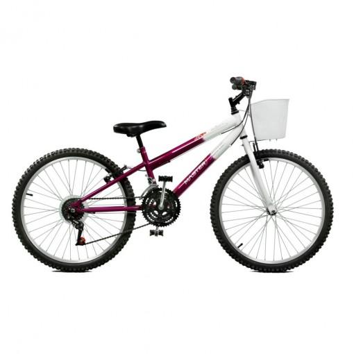 Bicicleta Aro 24 Feminina Serena 21M Violeta BR Master Bike