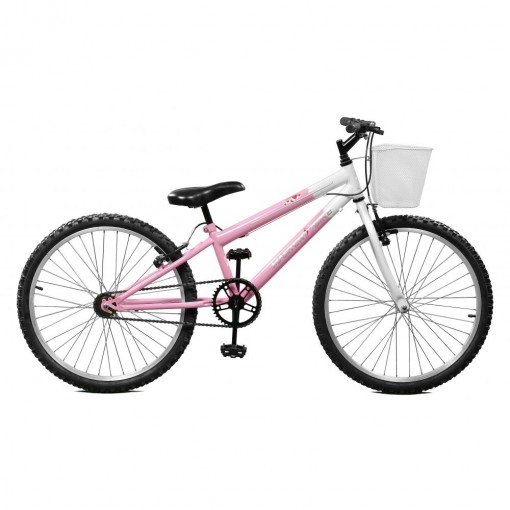 Bicicleta Aro 24 Feminina Serena Rosa sem Marcha Master Bike