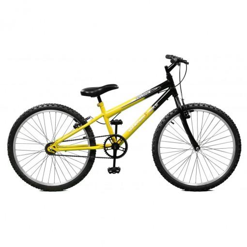 Bicicleta Aro 24 Masculina Cic Amarelo com Preto Master Bike