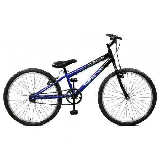 Bicicleta Aro 24 Ciclone Azul/Preto sem Marchas Master Bike