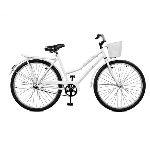 Bicicleta Feminina Kamilla Contrapedal Aro 26 Branca Master Bike