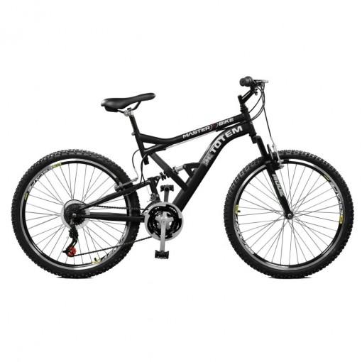 Bicicleta 21M Master Bike uspensão Full Baixa com 36R 21M