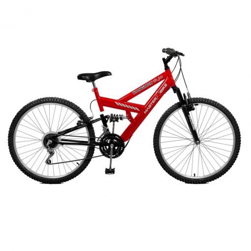 Bicicleta Kanguru Style 21 Marchas Vermelho Com Preto - Master Bike