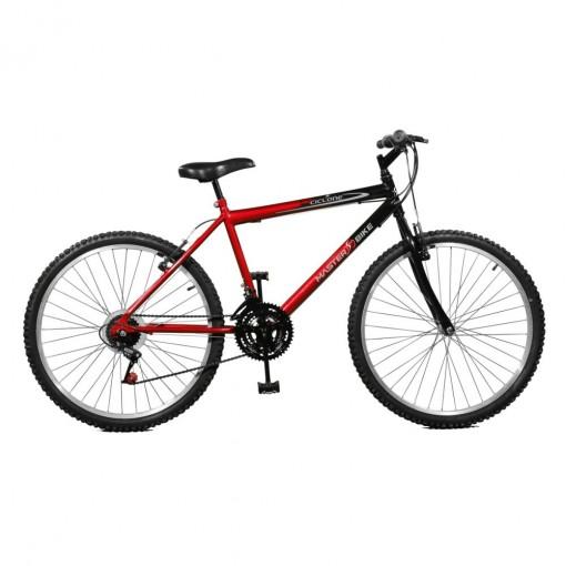 Bicicleta Ciclone Plus 21M Vermelho c/ Preto - Master Bike