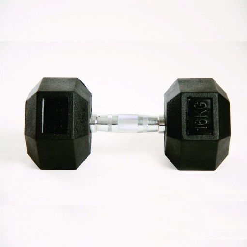 Dumbell Hex Rubber 16kg Gears Gears 533