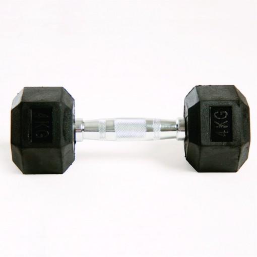 Dumbell Hex Rubber 4kg Gears Gears 527