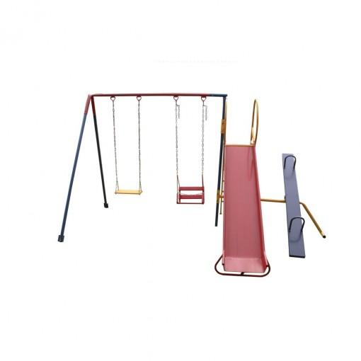Playground De Ferro 3 Em 1 Pequeno - Mundo Da Criança