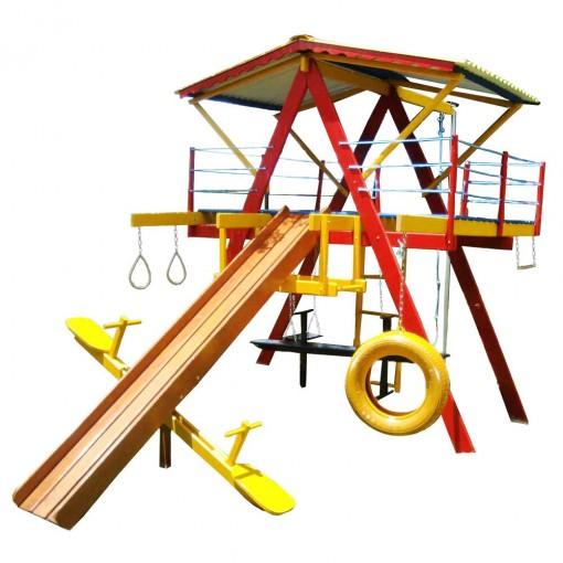 Playground de Madeira 12 Brinquedos Médio Mundo Da Criança
