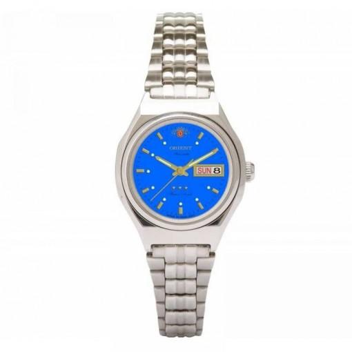 f7537e8c961 Relogio Feminino Prata Orient Automatico Pequeno Fundo Azul